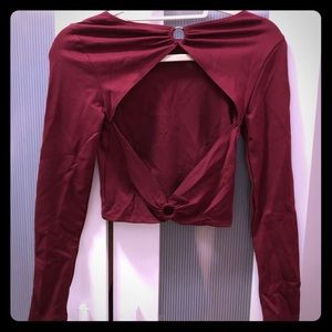 Free People Open Back Crop Long-sleeve!